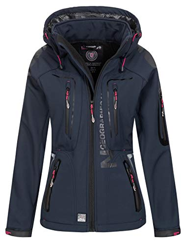 Geographical Norway Softshell Jacke – TASSION – Navy/F.PINK – L/3